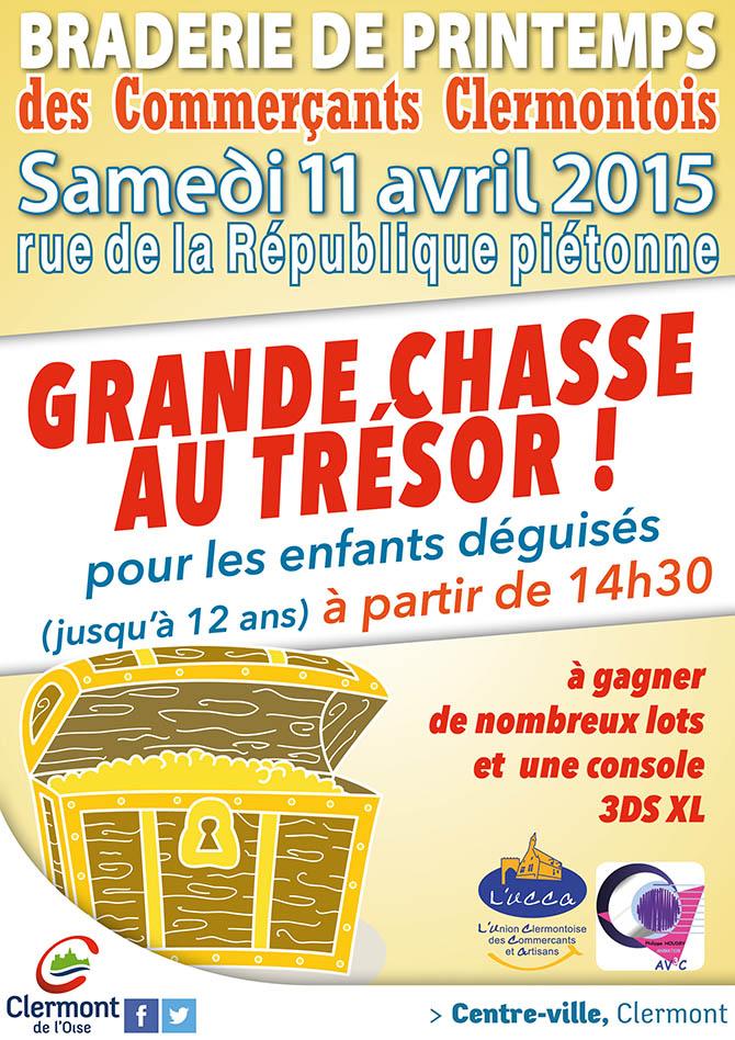 Chasse au trésor durant la braderie des commerçants, samedi 11 avril 2015 - Clermont (Oise)