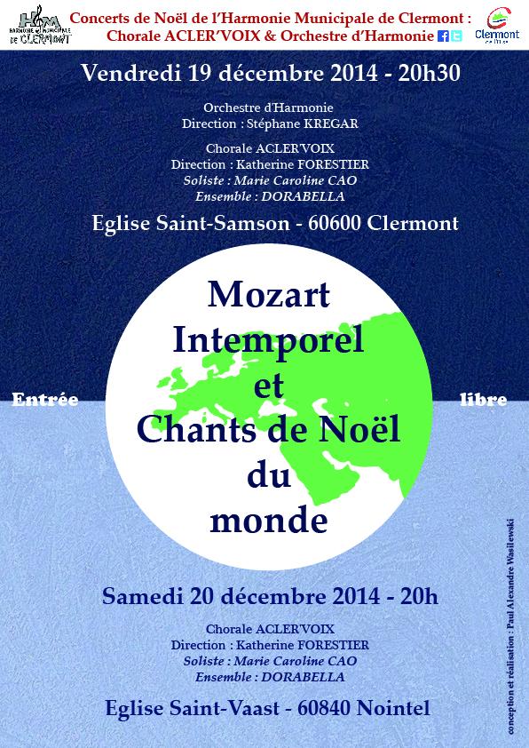 Concerts de Noël 2014 - Harmonie Municipale de Clermont, vendredi 19 et samedi 20 décembre 2014 - Clermont (Oise)