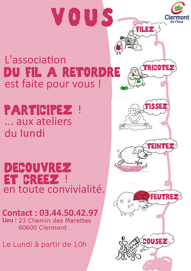 Du fil à retordre : 1ère journée d'initiation, samedi 25 avril 2015 - Clermont (Oise)