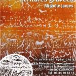 Ecritures gravées - exposition de Michèle James - Clermont (Oise)