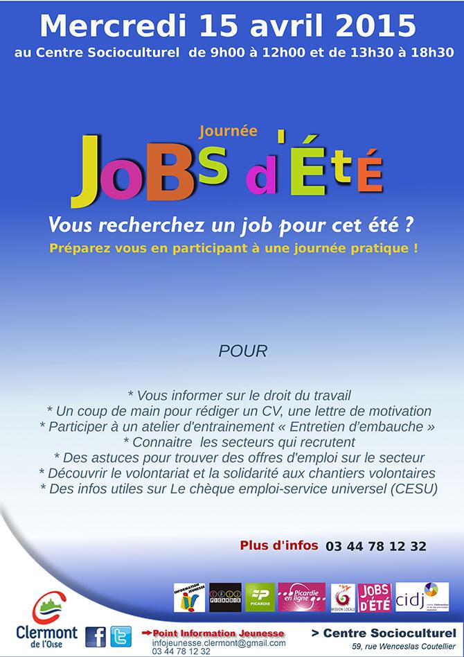 Journée Jobs d'Été 2015, mercredi 15 avril 2015 - Clermont (Oise)