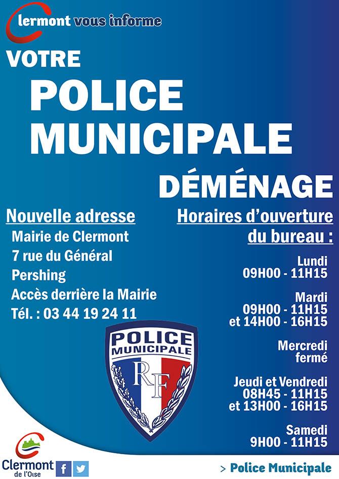 Police Municipale de Clermont, déménagement des locaux - Clermont (Oise)