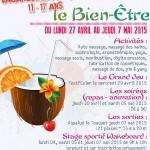 Vacances de printemps 11 - 17 ans : le Bien-Être - Clermont (Oise)