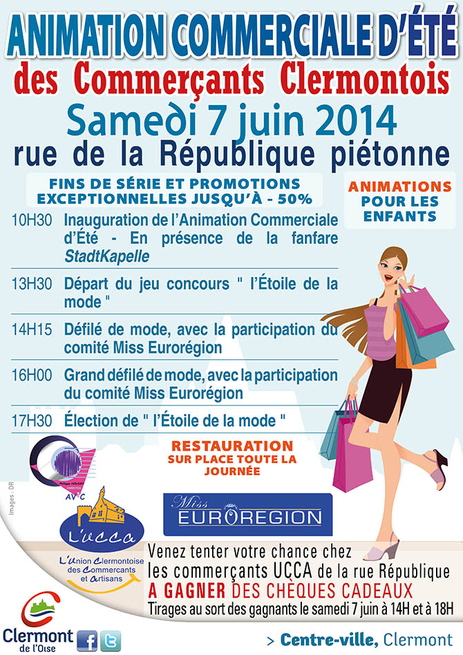 Animation Commerciale d'Été, samedi 7 juin 2014 - Clermont Oise