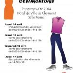 Bourse Municipale Clermontoise aux vêtements - printemps-été 2014, du 14 au 17 avril - Clermont Oise