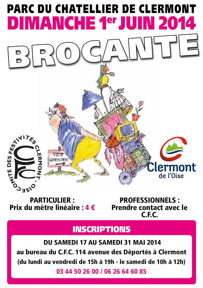 Brocante 2014 du Comité des Festivités de Clermont; dimanche 1er juin 2014 - Clermont Oise