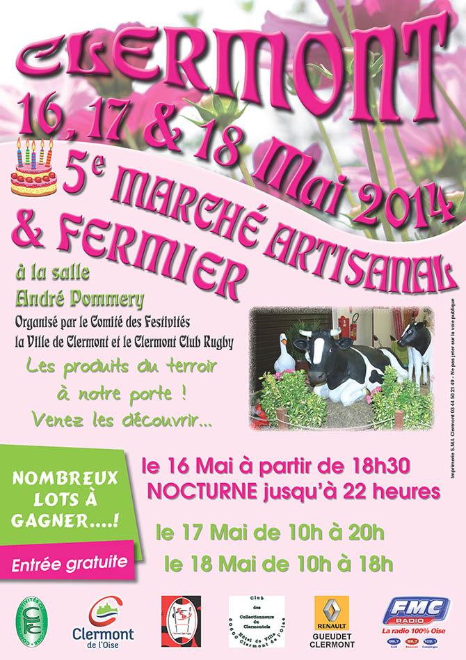5ème marché fermier et artisanal, du vendredi 16 au dimanche 18 mai 2014 - Clermont Oise