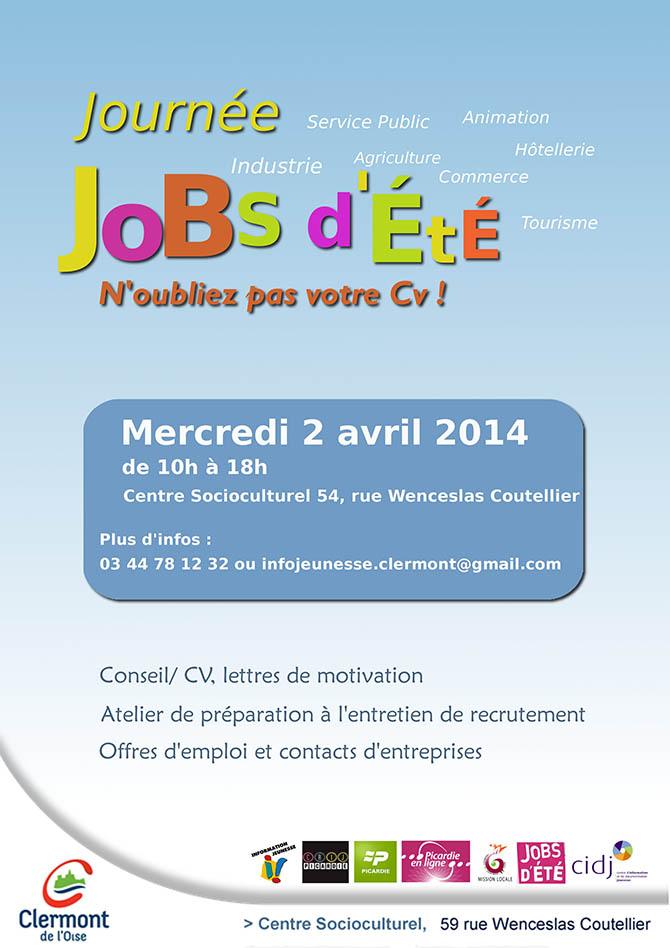 Journée Jobs d'Été, n'oubliez pas votre CV, mercredi 2 avril 2014 - Clermont Oise
