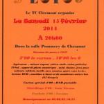 Loto par le Tennis Club de Clermont, samedi 15 février 2014 - Clermont Oise