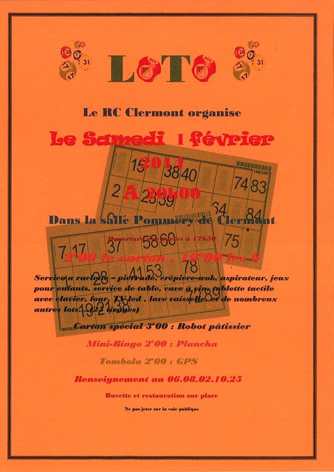 Loto par le Racing Club de Clermont, samedi 1er février 2014 - Clermont Oise