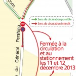Rue du Général Pershing - travaux de voirie les mercredi 11 et jeudi 12 décembre 2013 - Clermont Oise