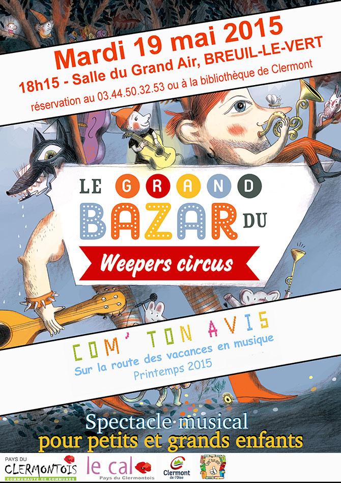 Bibliothèque - Com' ton avis - spectacle des Weepers Circus - Clermont Oise