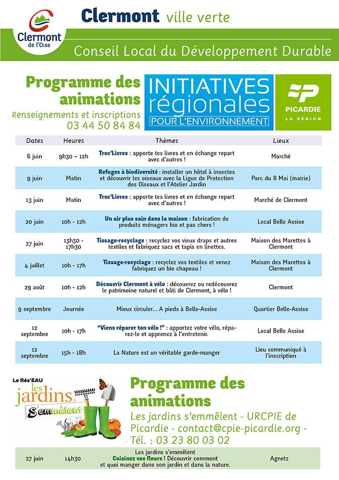 Initiatives Régionales pour l'Environnement 2015, du 6 juin 2015 au 12 septembre 2015 - Clermont Oise