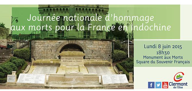 Journée nationale d'hommage aux morts pour la France en Indochine, lundi 8 juin 2015 - Clermont Oise