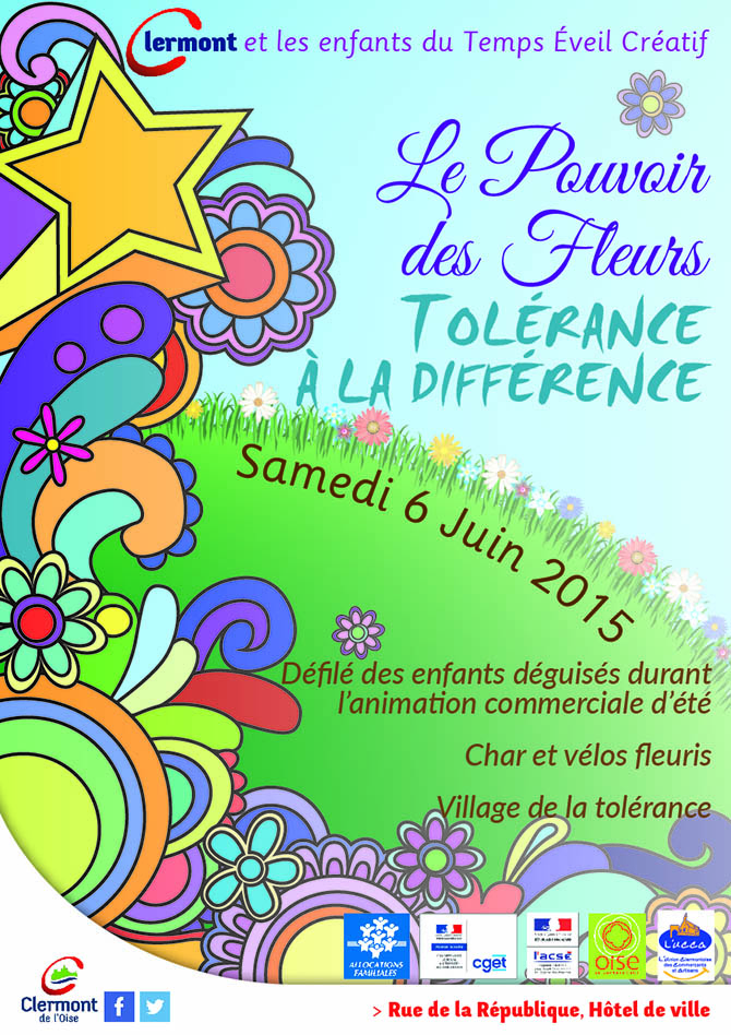 Le pouvoir des fleurs - Tolérance à la différence, samedi 6 juin 2015 - Clermont Oise