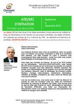 Picardie en Ligne/Point Cyb Clermont (Oise) - Ateliers de septembre à décembre 2015 - Clermont Oise