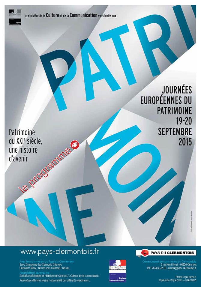 Journées Européennes du Patrimoine, les 19 et 20 septembre 2015 - Clermont Osie
