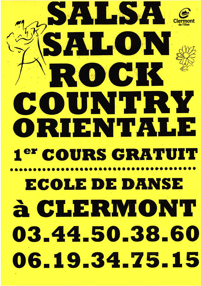 Salsa Salon Rock Country Orientale - Inscriptions saison 2015-2016 - Clermont Oise