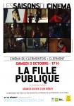 """Les saisons du cinéma à Clermont : séance """"La Fille Publique"""", samedi 3 octobre 2015 - Clermont Oise"""