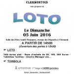 L'association Fraternelle du Clermontois vous propose un loto le dimanche 5 juin 2016 14h salle des fêtes Andre Pommery avenue des Déportés à Clermont Ouverture des portes à 12h30