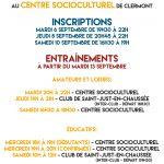 Association Sportive de Clermont : inscriptions saison 2016-2017