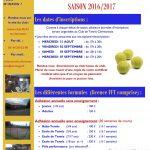 CTC - Club Tennis Clermontois : inscriptions saison 2016-2017