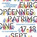 Journées Européennes du Patrimoine 2016, samedi 17 et dimanche 18 septembre