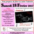 L'Union des Comités des Fêtes du Pays du Clermontois vous propose de fêter la Saint-Valentin, le samedi 18 février 2017, 20H, Salle André Pommery.