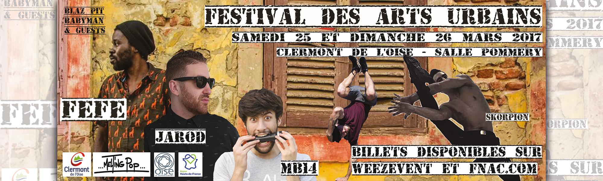 Festival des Arts Urbain – Edition 2017, Samedi 25 et dimanche 26 mars