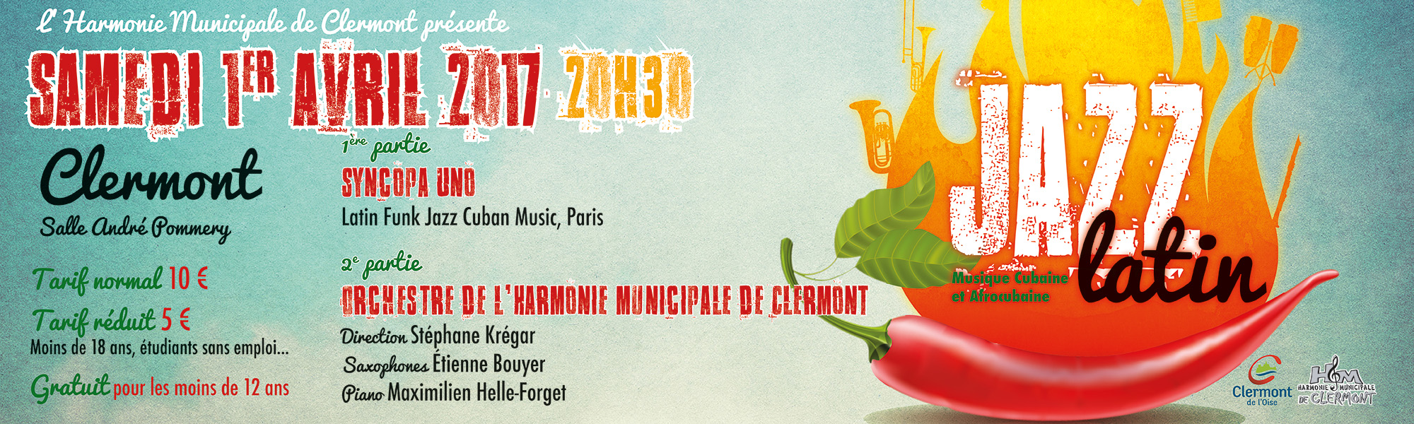 Harmonie Municipale : concert de printemps « Jazz Latin »